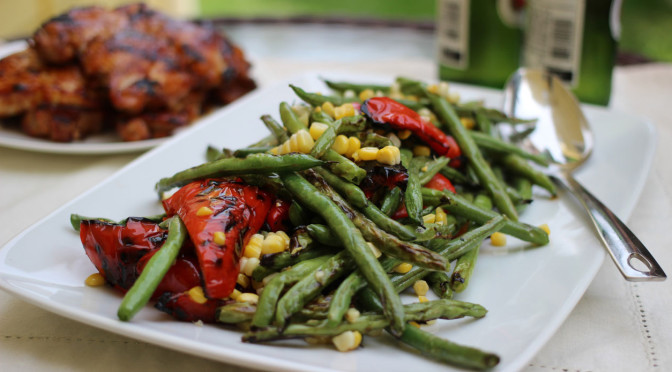 grilled-green-bean-salad