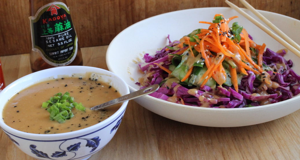 Chopped Salad with Sesame-Miso Dressing | Cook Angel